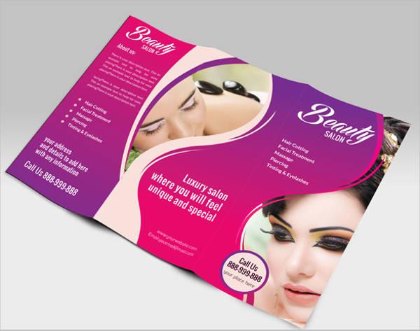 salon spa brochure