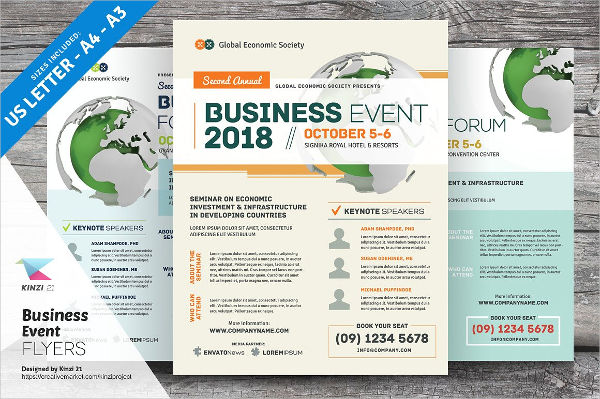 sample business event flyer