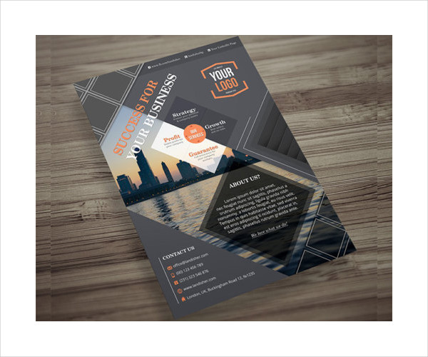 sample business psd flyer