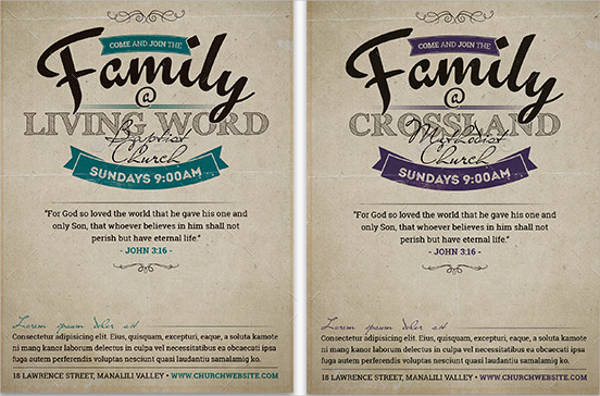 sample church invitation flyer