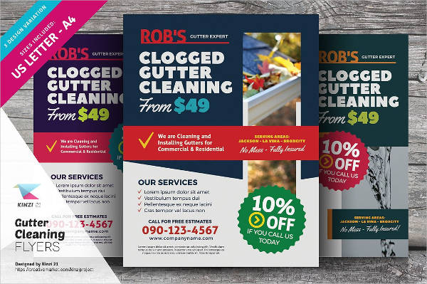 sample cleaning business flyer