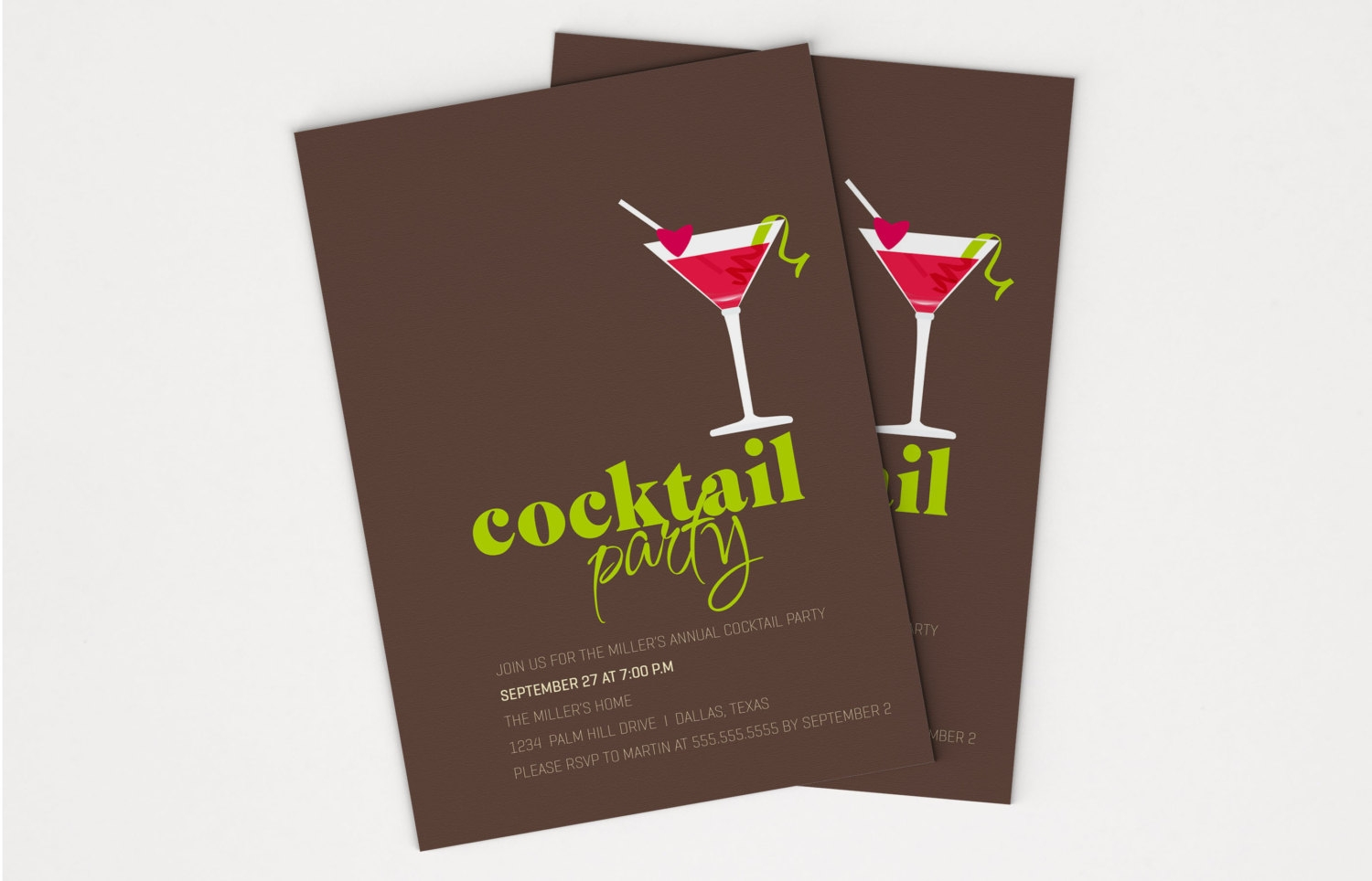 sample cocktail party invitation