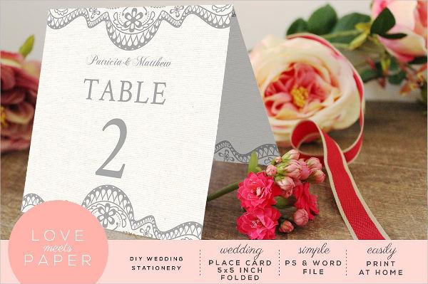 sample diy wedding place card
