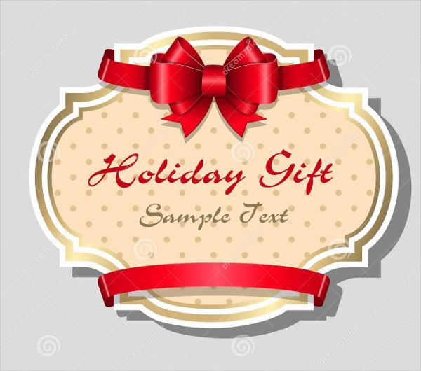 sample holiday gift card