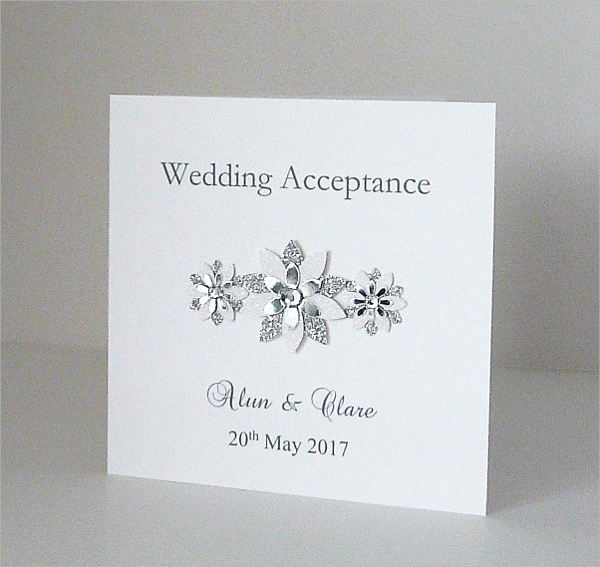 sample special wedding acceptance card