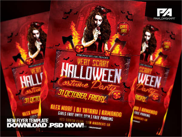 scary halloween party flyer