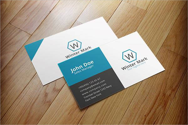simple corporate business card