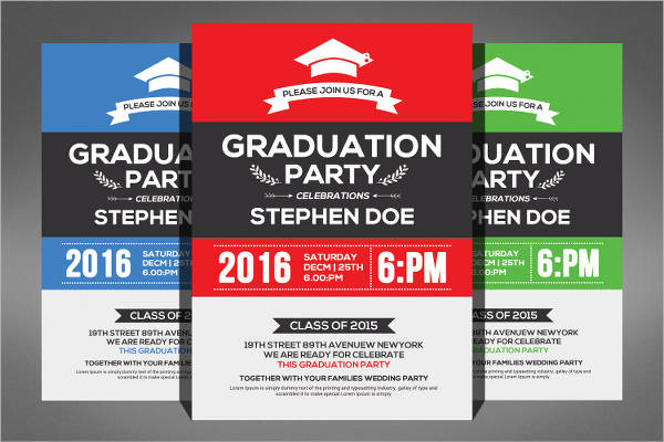 simple graduation invitation flyer