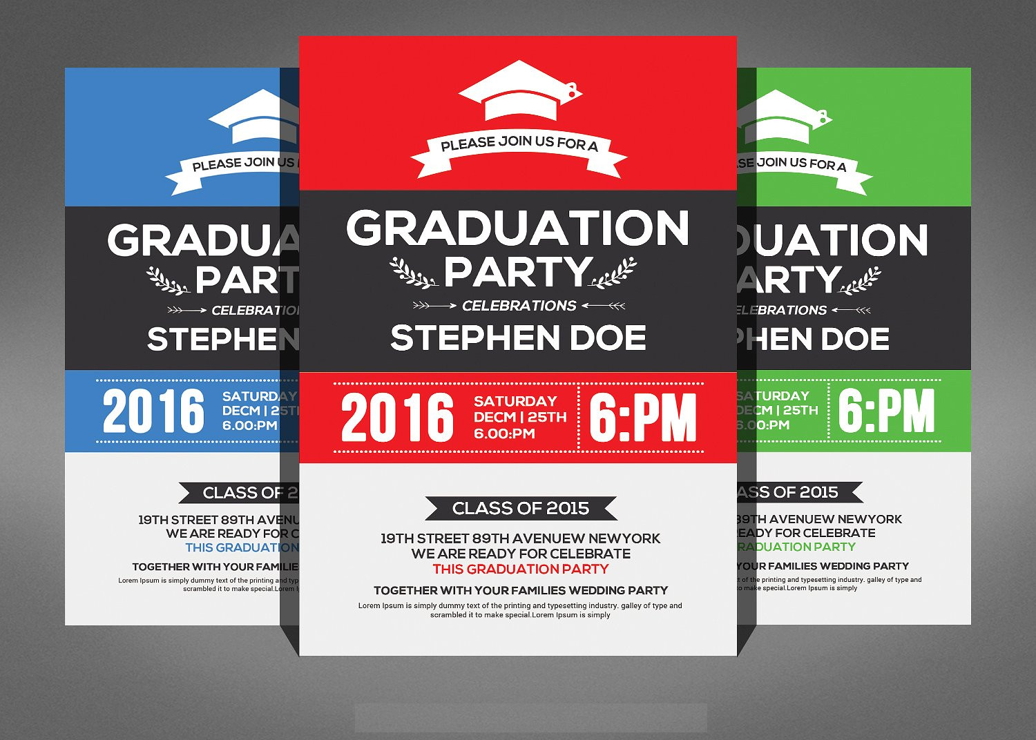 simple graduation invitation flyer2