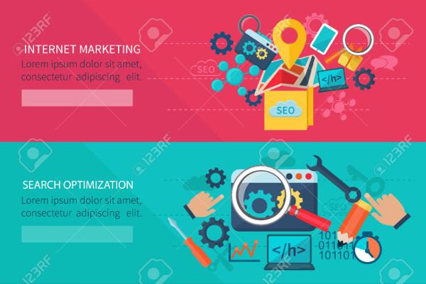 simple internet marketing banner