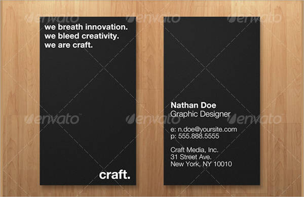 simplistic business card