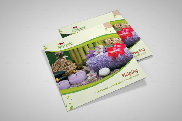 spa advertising brochure