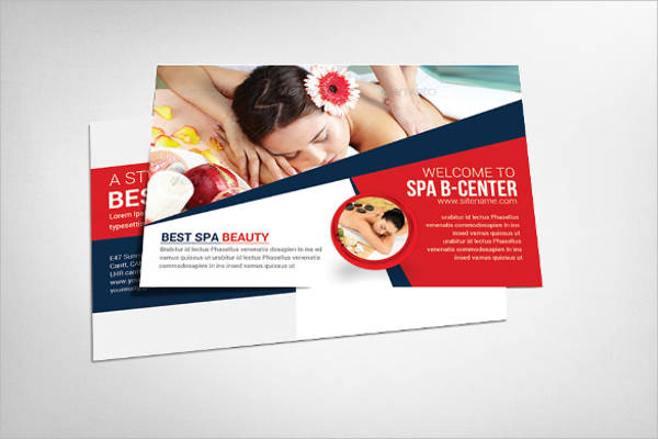 spa advertising postcard template