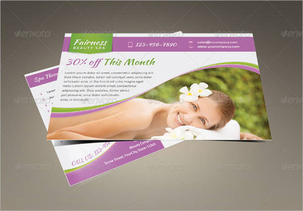 spa marketing postcard