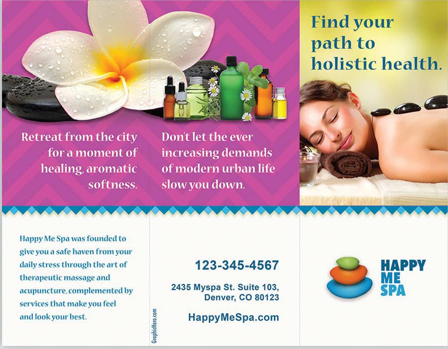 spa massage brochure