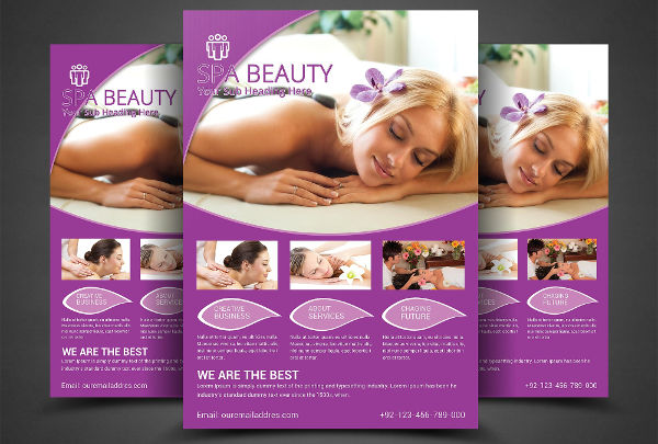 spa salon flyer design