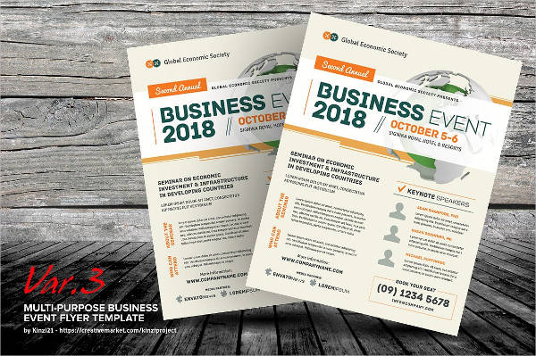 special business event flyer