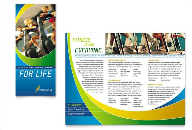 sport gym brochure