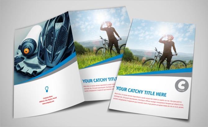 sports activity bi fold brochure
