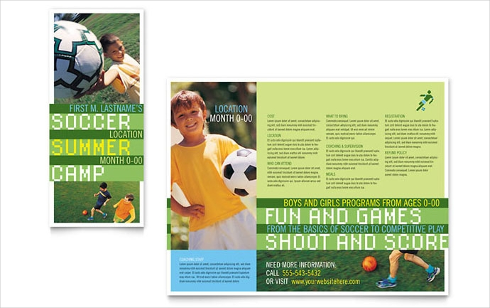 sports camp brochure