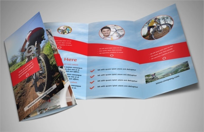 sports shop brochure