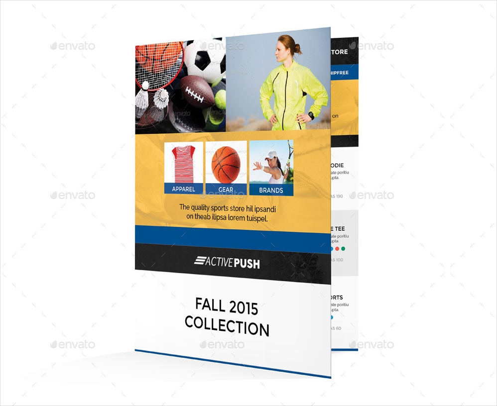 sports store bi fold brochure