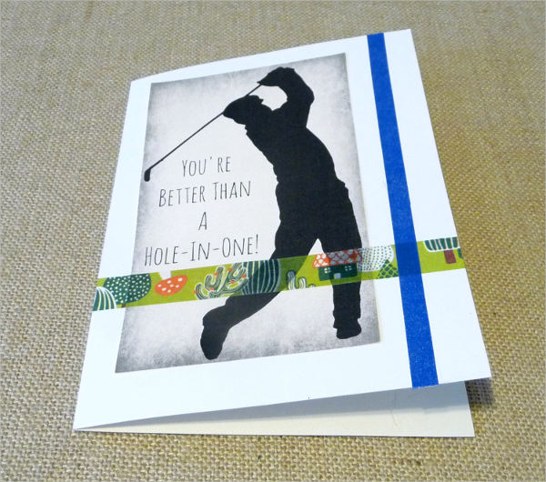 sports themed greeting card