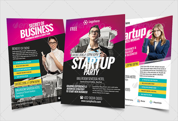 startup business event flyer