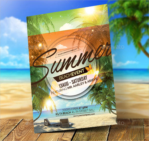 summer event invitation flyer