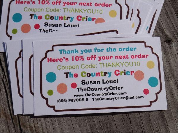 thank you discount voucher