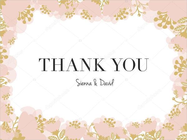thank you sayings wedding card
