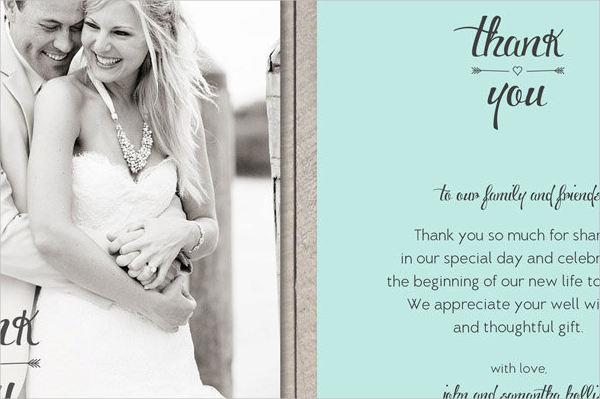 thank you wedding card wording
