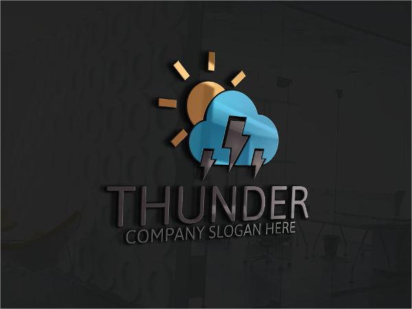 thunder electrical logo template