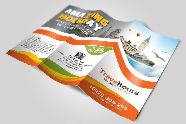 tourism service tri fold brochure