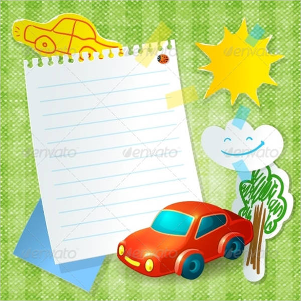 toy car blank postcard template