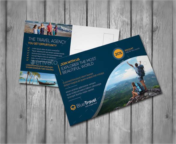 travel advertising postcard template