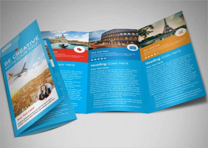 travel agency bi fold brochure