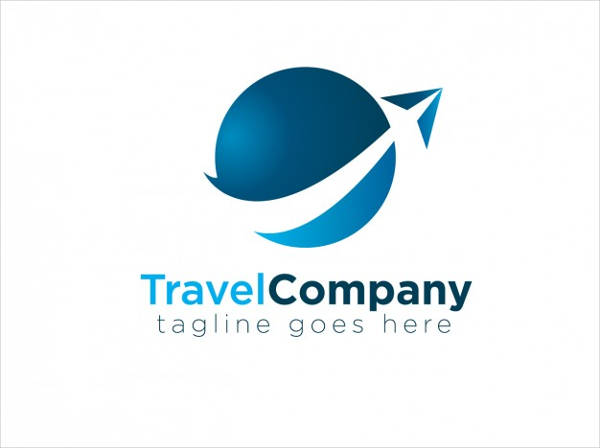 travel company logo vector
