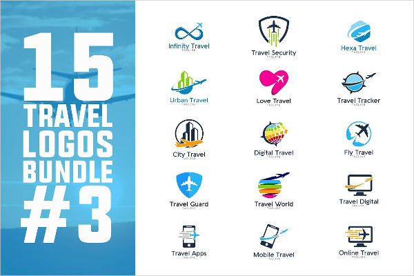 travel logo template 15 eps