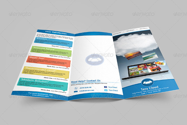 tri fold cloud service brochure