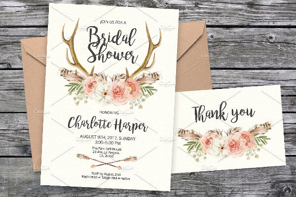 tribal bridal shower party invitation