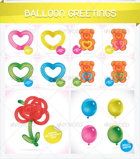 unique glossy balloon greeting card