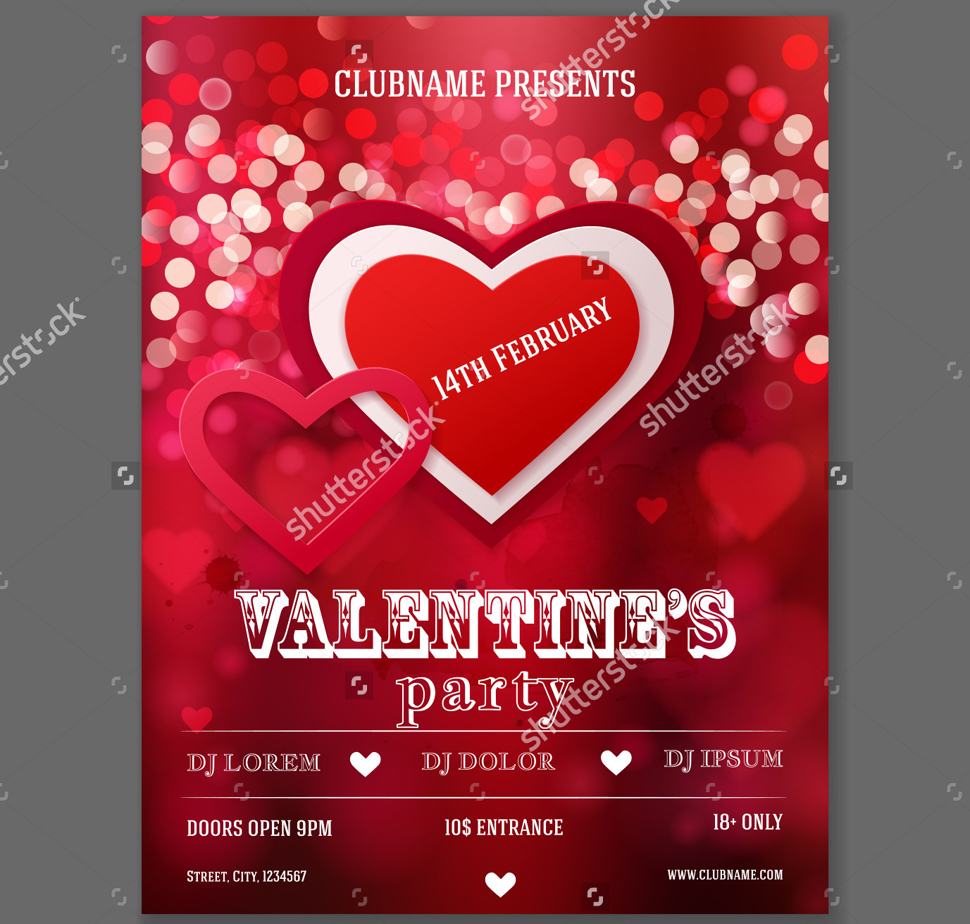 valentine party invitation flyer