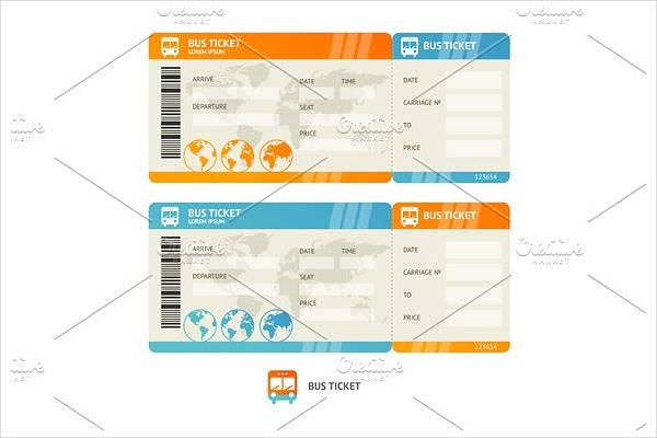 vector bus ticket template