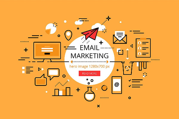 vector email marketing banner