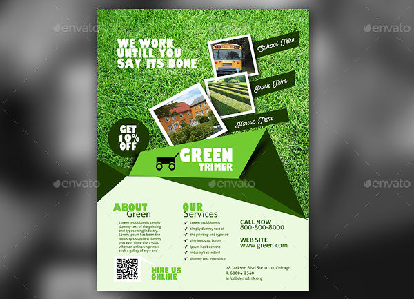 vector garden and lawn care flyer