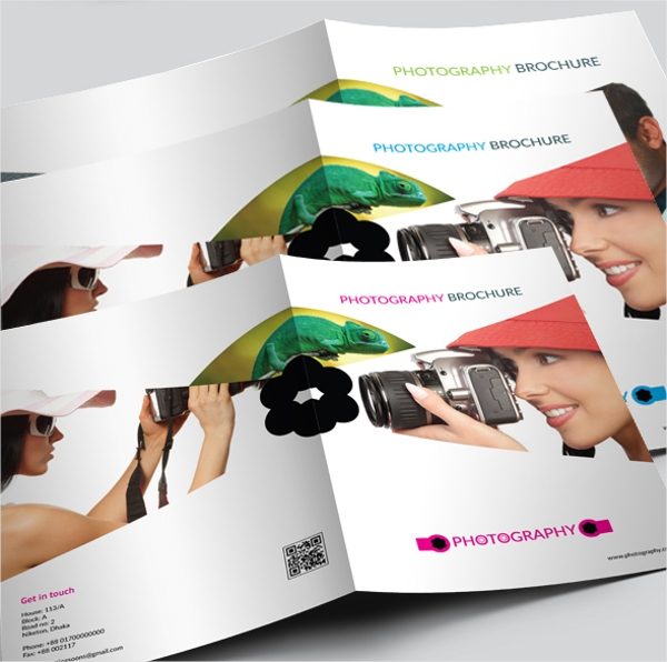 vector photography brochure