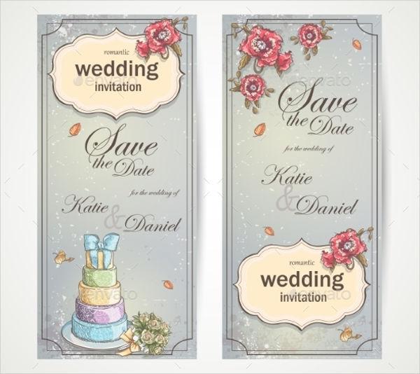 vector wedding invitation banner