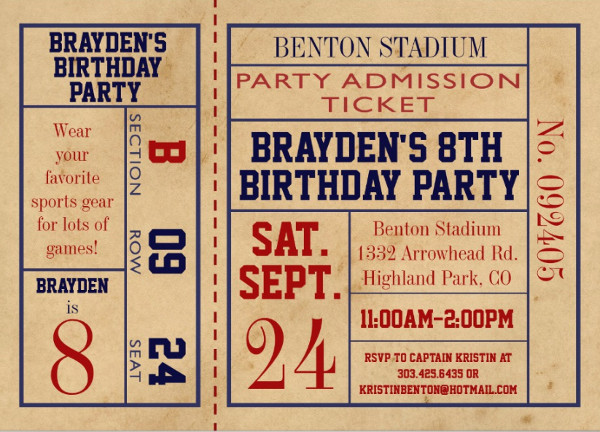 vintage baseball event invitation1