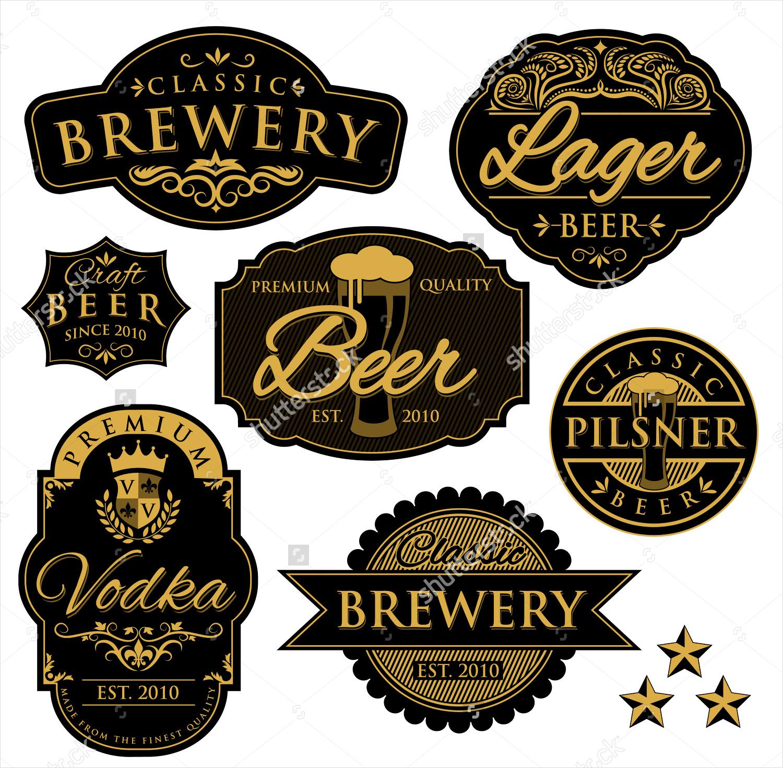 vintage beer bottle label